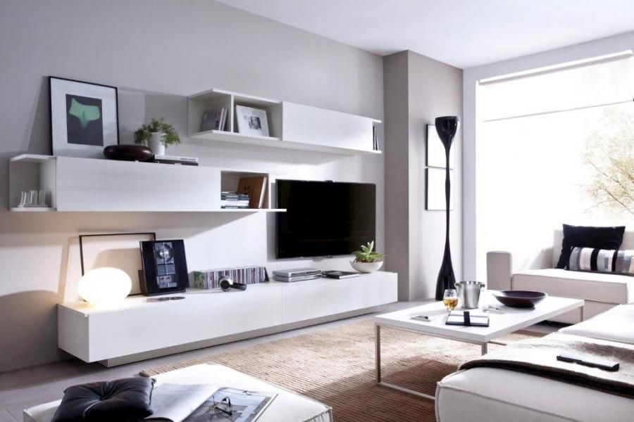 Contemporary Wall Cabinets Living Room Ashley Furniture Rimobel Duo Modern Sideboard And Cabinet Composition Storage System With 2 Mounted Low Sideboards