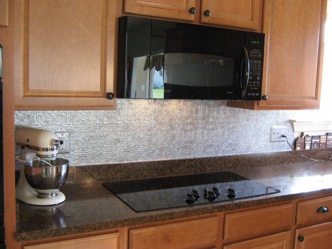White Tin Backsplash Alternatives For Kitchen Decor | Kitchens ...