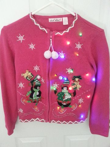 Lighted ugly christmas sweater!