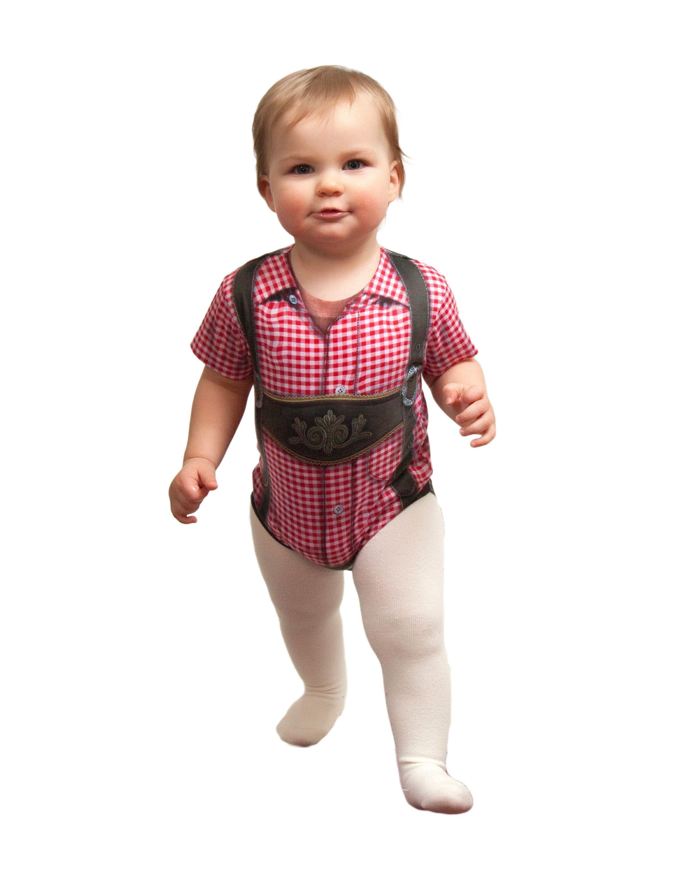 German Costume Realistic Lederhosen Snap Suit