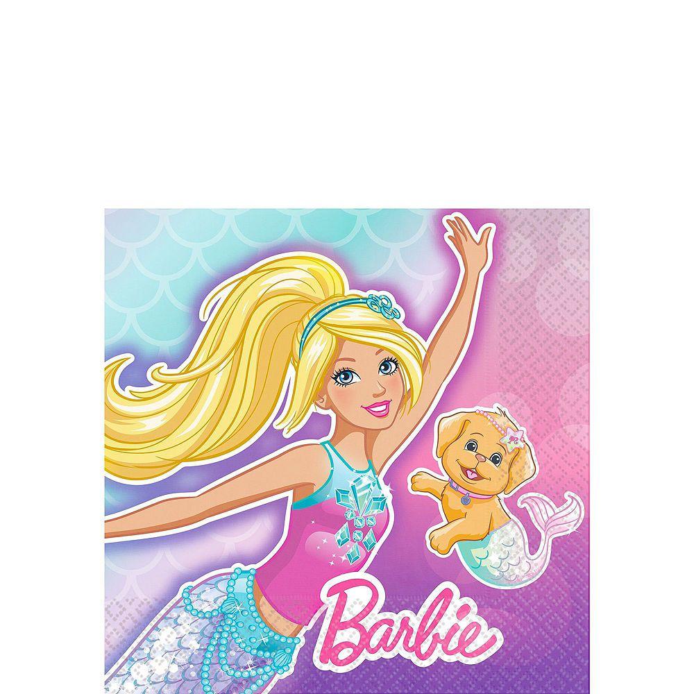 Iridescent Barbie Mermaid Birthday Party Tableware Kit for