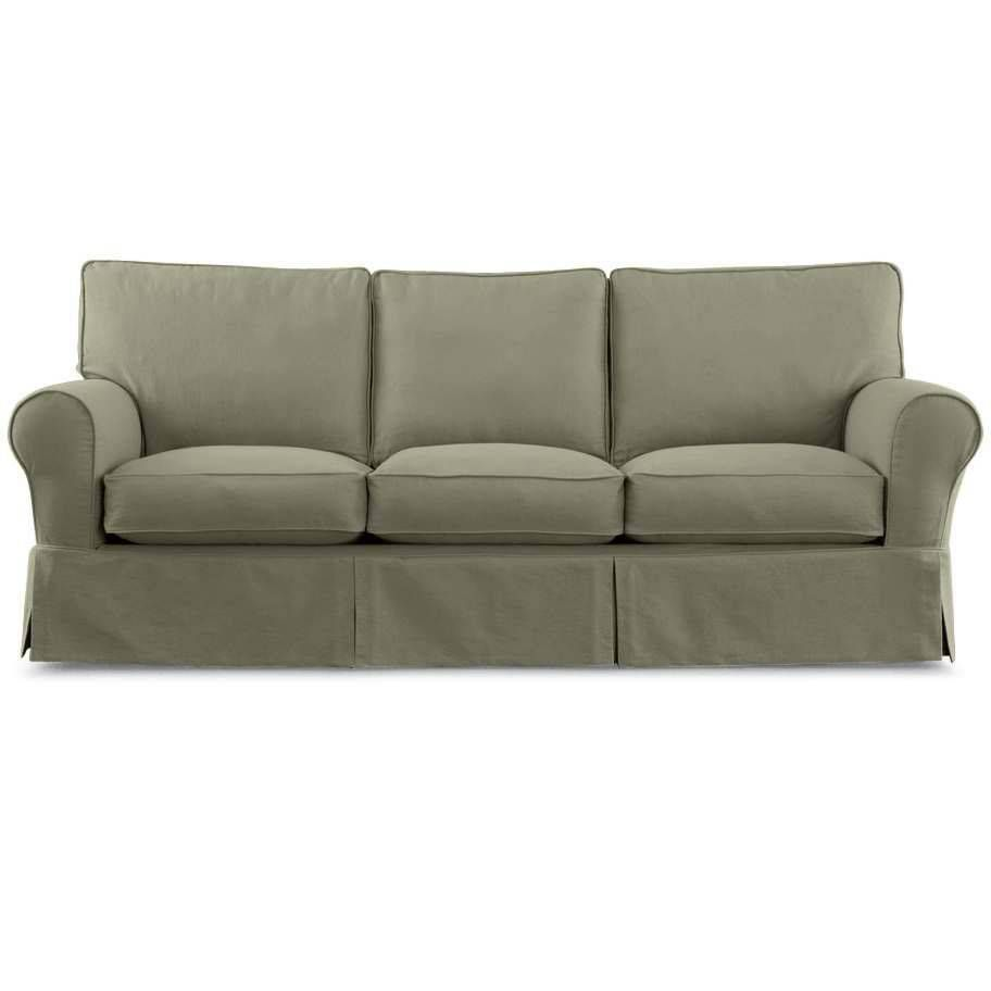 Linden Street Slipcover Twill In Loden Green 900 Sofa