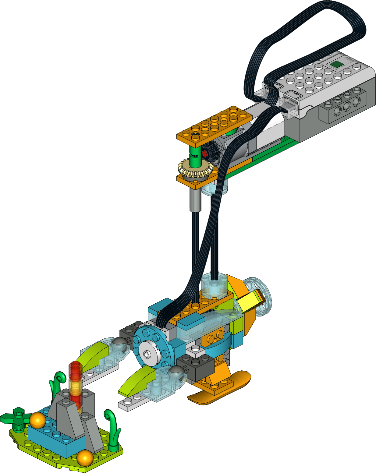 Bathyscaphe Lego Wedo 2 0 Citycamp Wedo Course This Construction Presents A Model Of A Bathyscaphe Which Is A Free Diving S Lego Wedo Lego Lego Activities