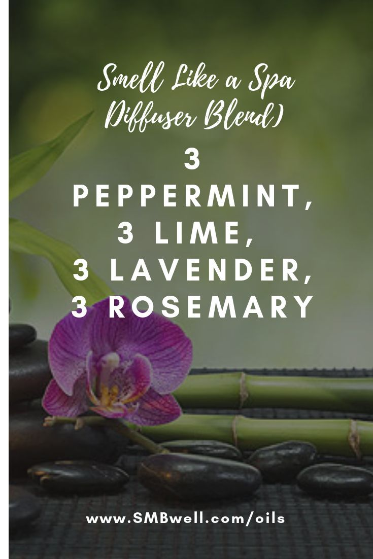 This diffuser blend is great for Smell like Spa feeling. I'm a mom of 3 teenage boys and young living essential oils help me with my busy working mom and stay at home mom life. They help me with anxiety, moods, energy, and random house smells. Love my essential oils!!