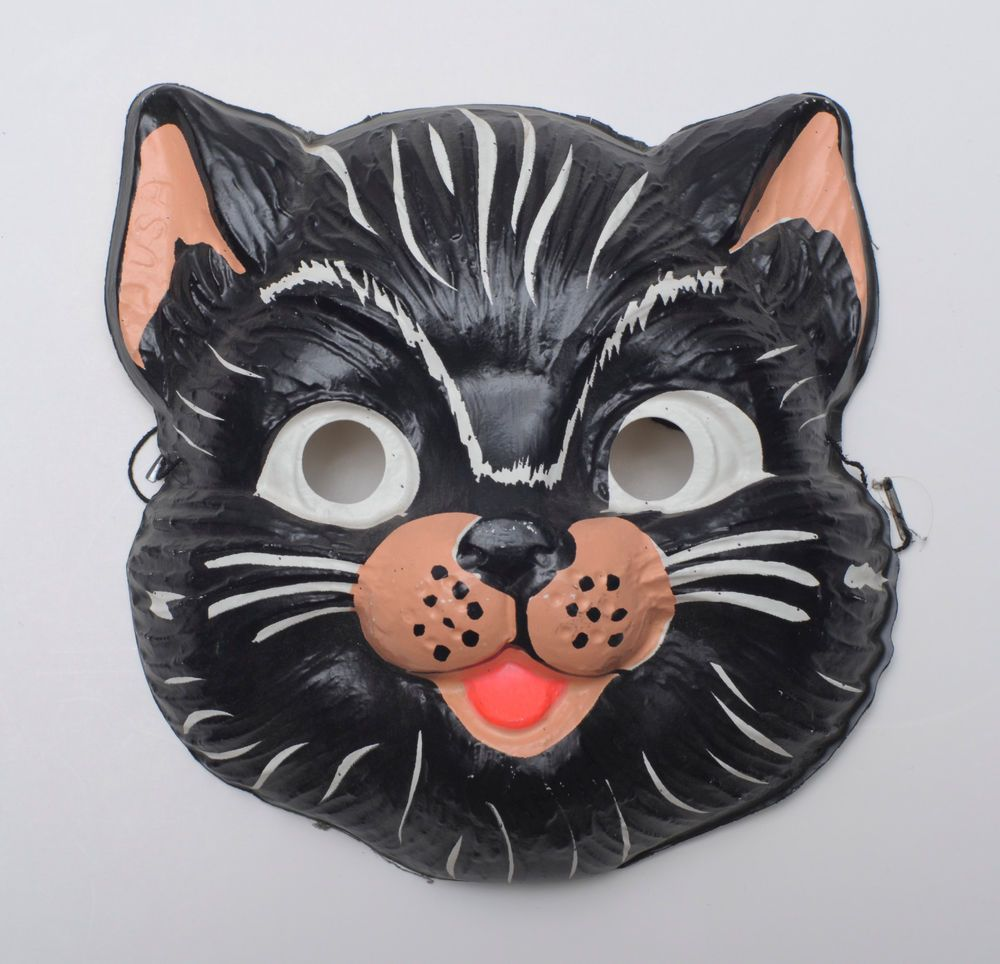 vintage halloween mask black cat ben cooper - Google Search ...
