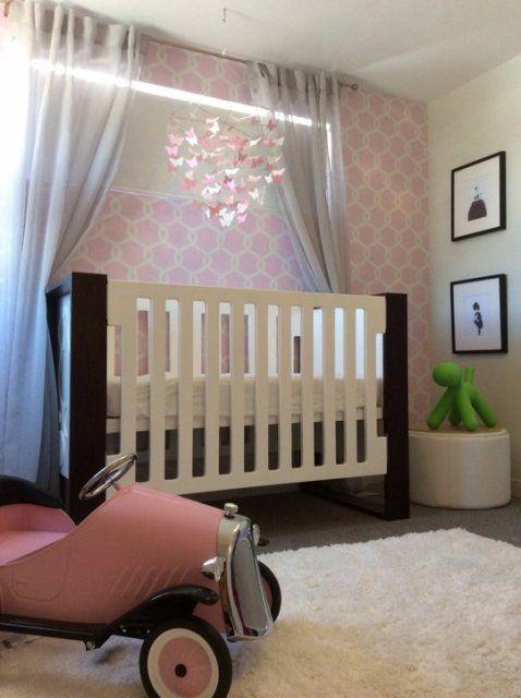 Elegant Baby Boy Nursery: Elegant Baby Girl's Nursery In Blush And White. I Like The