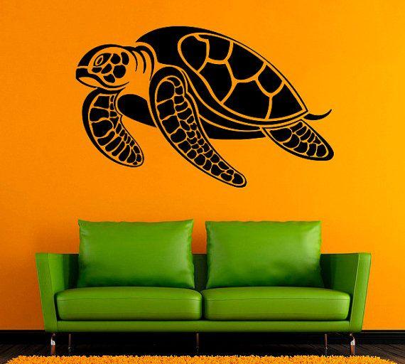 Tartaruga Vinyl Decal Tortoise Wall Sticker mare animali muro decalcomanie parete vinile /3xdf/ Decor