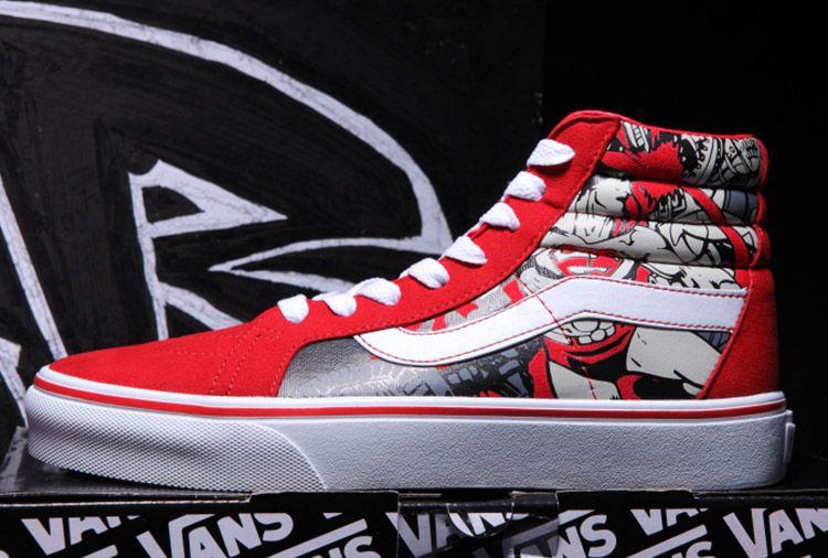 3f13365ccf Red Vans Superman Returns SK8 High Skateboard Shoes  Vans