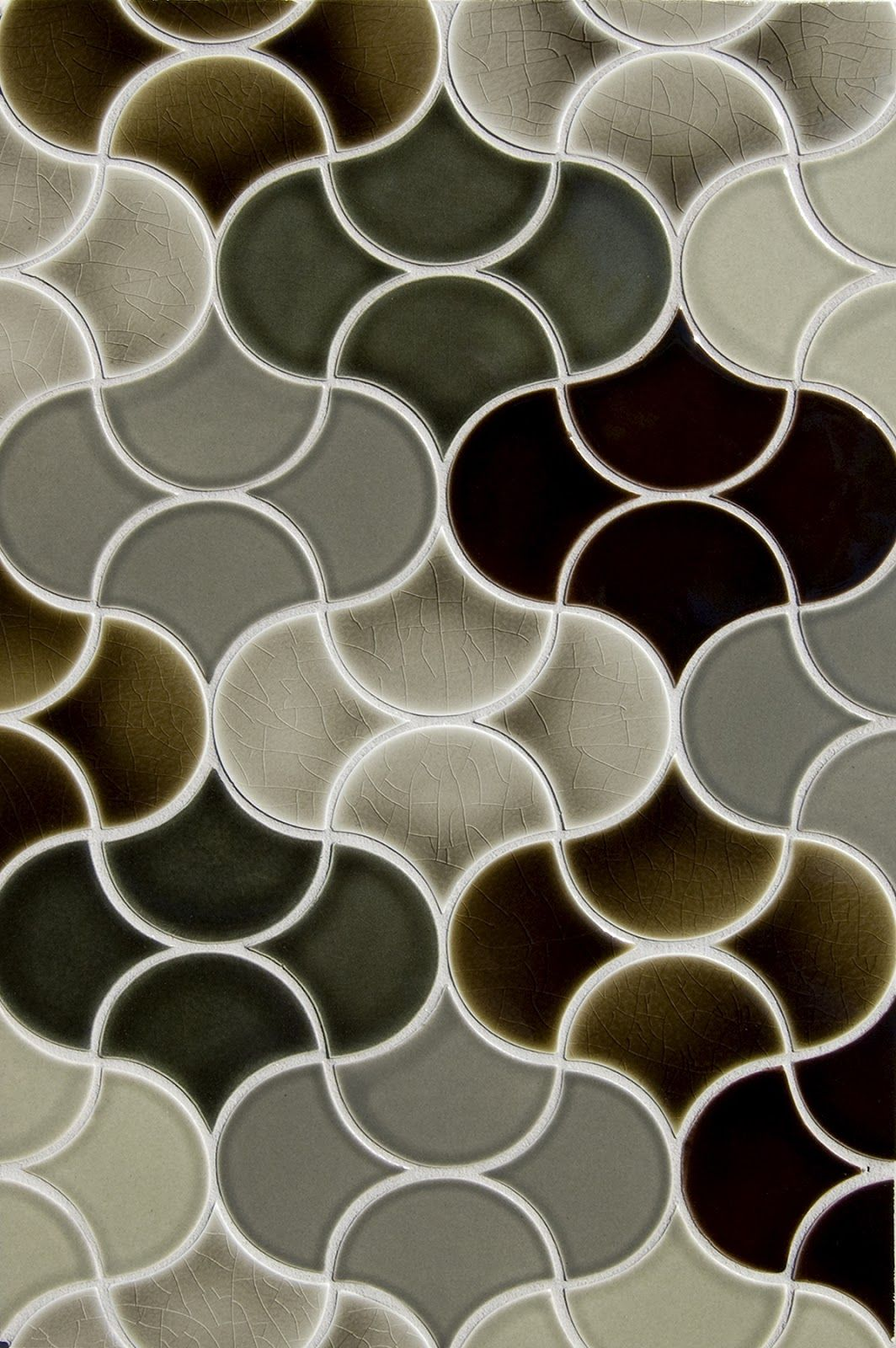 New shapes at pratt larson the small fan handmade tiles can be pratt larson tiles mosaic pattern the small fan glazed ceramic tile is available for custom color matching dailygadgetfo Images