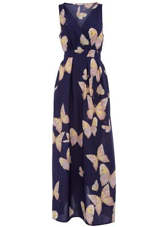 Dorothy Perkins  Ink butterfly maxi dress $29