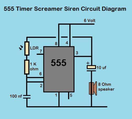555-Timer-Light-Sensitive-Screamer-Siren-Circuit-Kit | 555 Timer ...