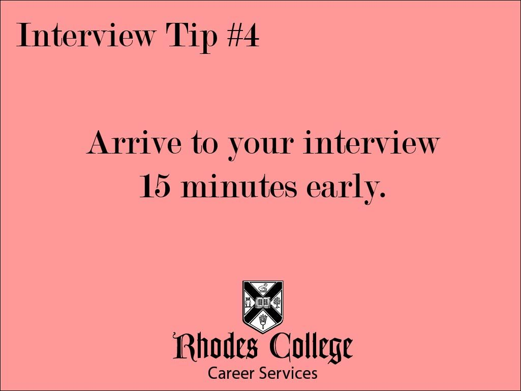 how early should i arrive for an interview