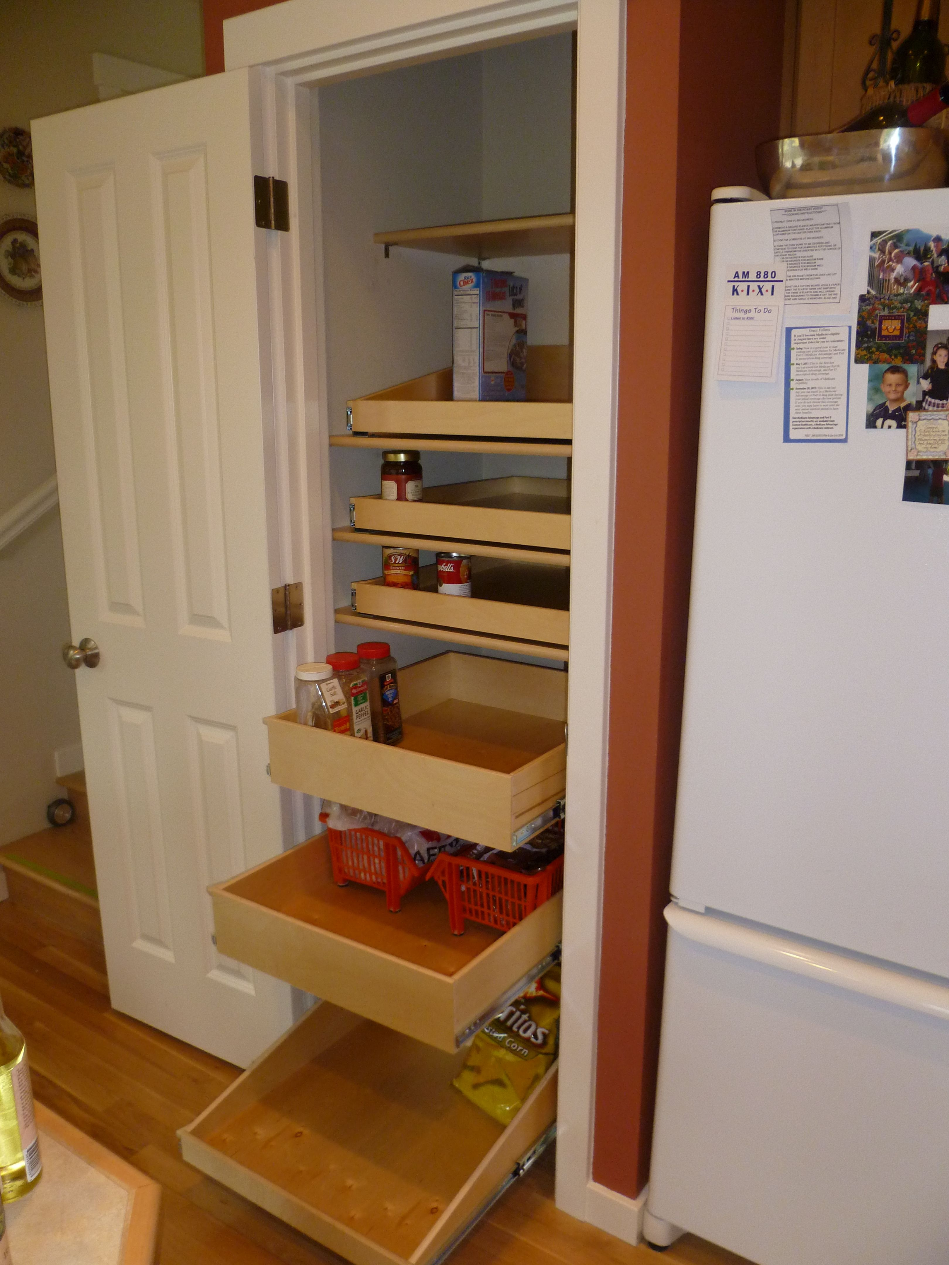 Pull Out Wood Drawers For Pantry