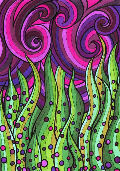 Elemental - Abstract Illustration by Lorrie Whittington, via Behance