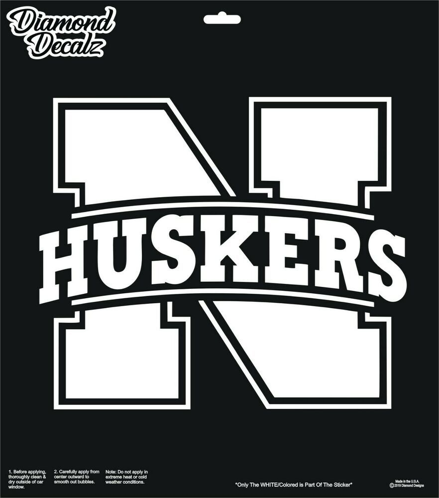 Nebraska Cornhuskers N Logo Football Vinyl Decal Car Truck Logo Window Sticker Diamonddecalz Football Vinyl Decal Car Decals Vinyl Window Stickers