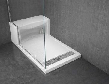 Alessa Shower Base Modern Bathroom Vanities And Sink Consoles Tom Borsellino Shower Base With Seat Shower Base Shower Floor