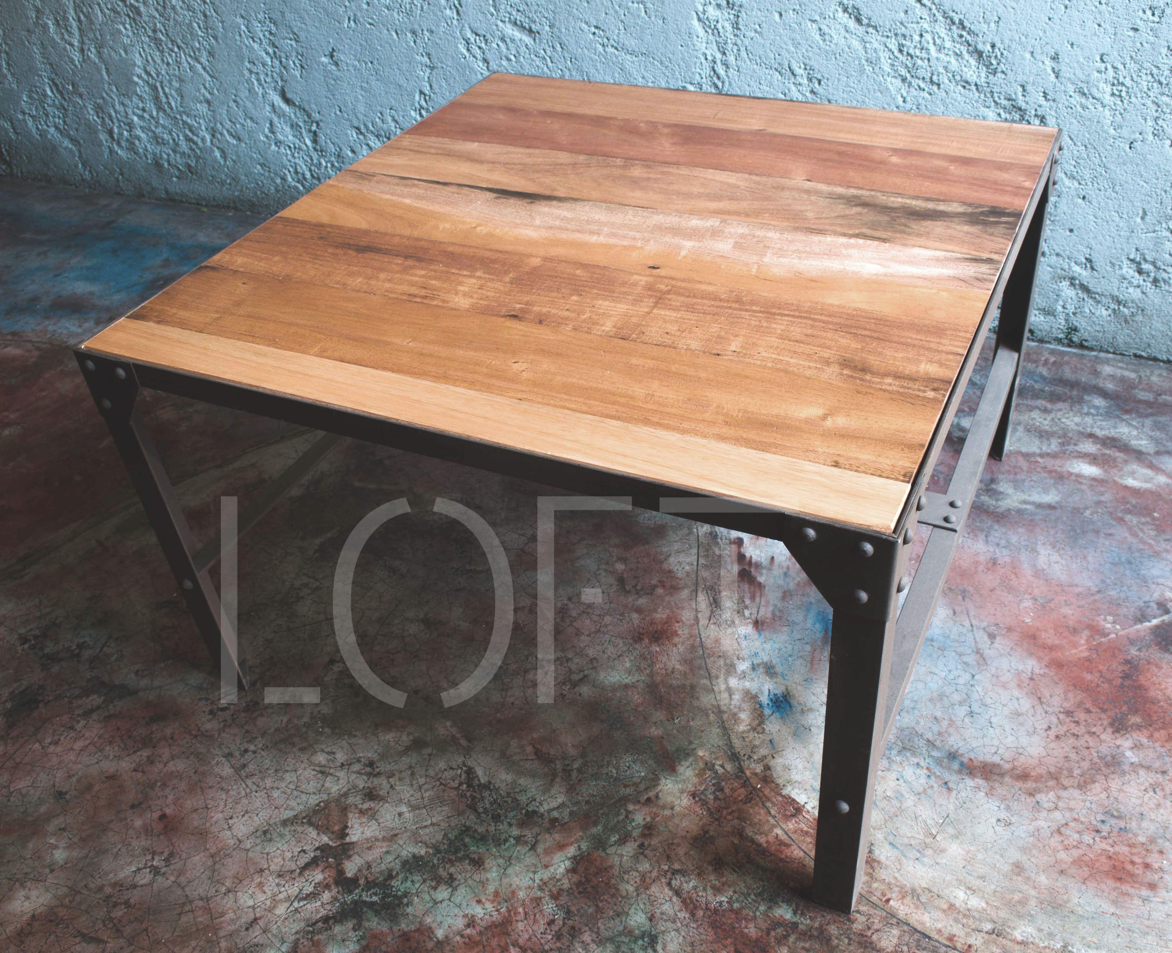 mesa ratona madera y hierro loft diseo de muebles