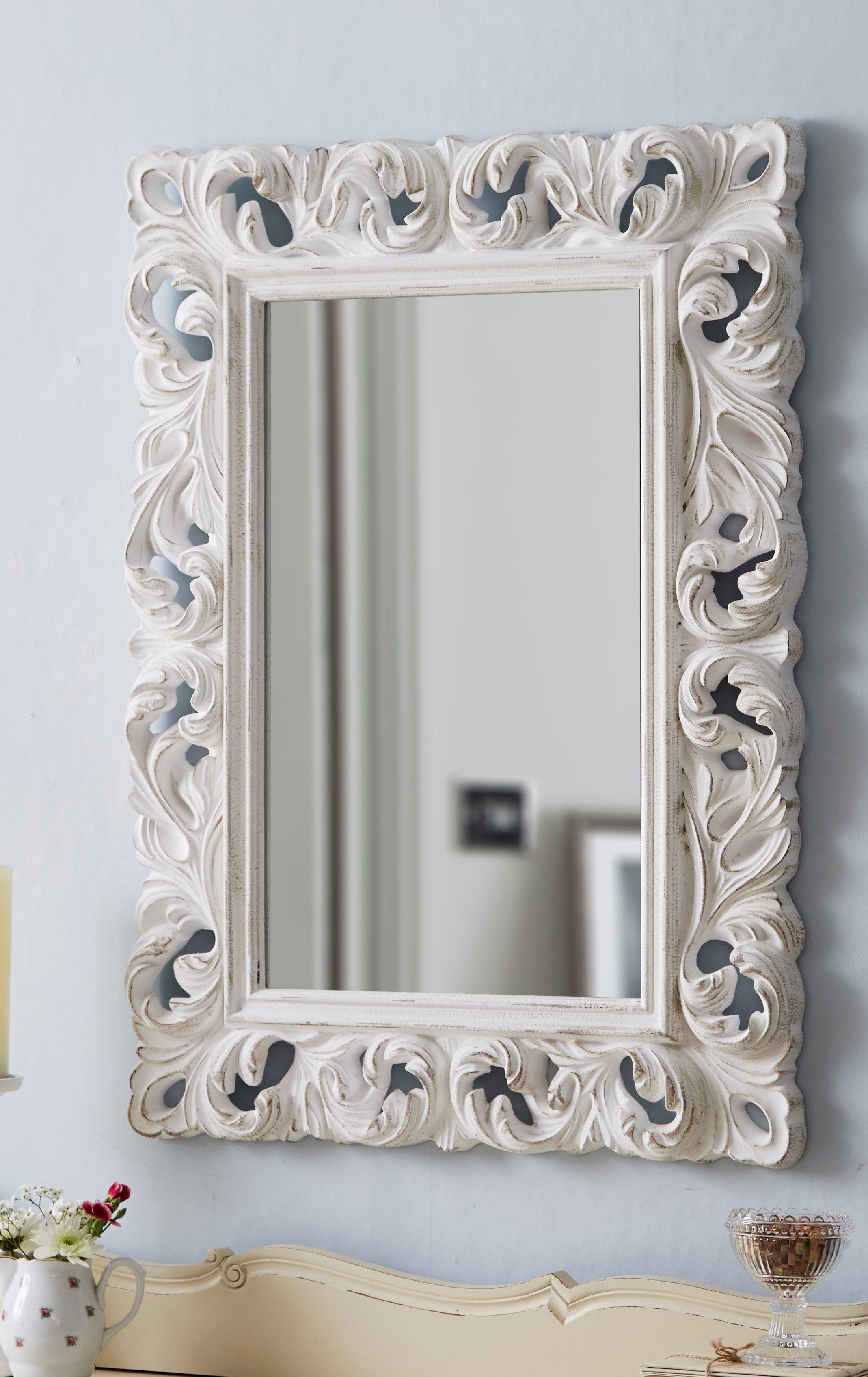 Dieser eindrucksvolle Wandspiegel ist ein Blickfang in jedem Raum ...