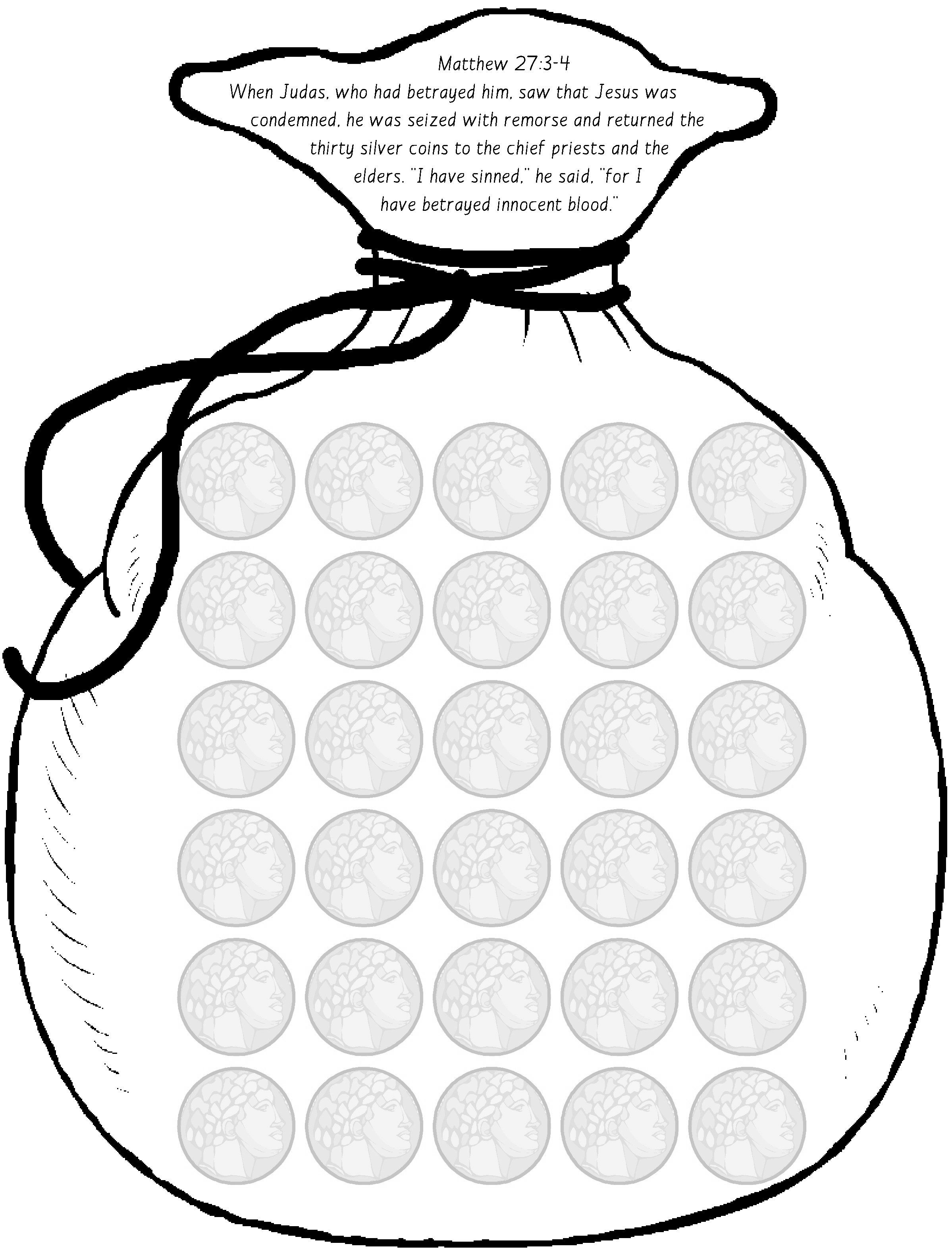coloring pages silver coins - photo#15