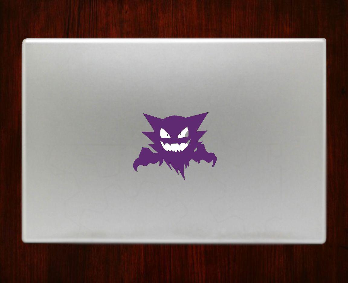 Haunter Pokemon Decal Sticker Vinyl For Apple Macbook Pro Air Retina 13 15 Inch Laptop Decals Pokemon Decal Vinyl Sticker Anime Decals [ 936 x 1152 Pixel ]