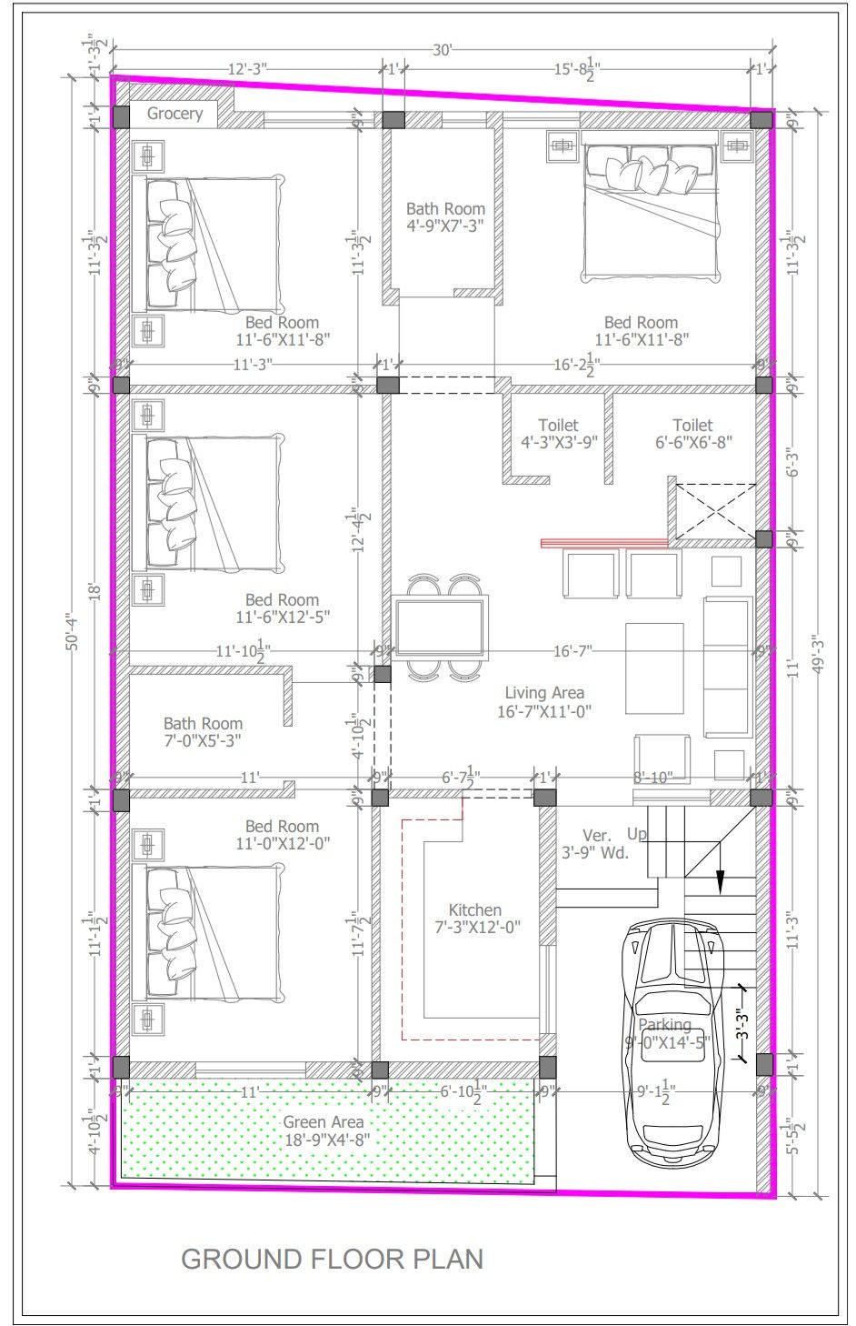 30x50 Planning 4 Bhk Home Planning Indian House Plans Single Storey House Plans 40x60 House Plans