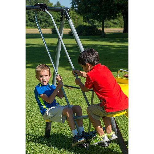Castleton Swing Set With Slide Seesaw And Fun Flexible Flyer