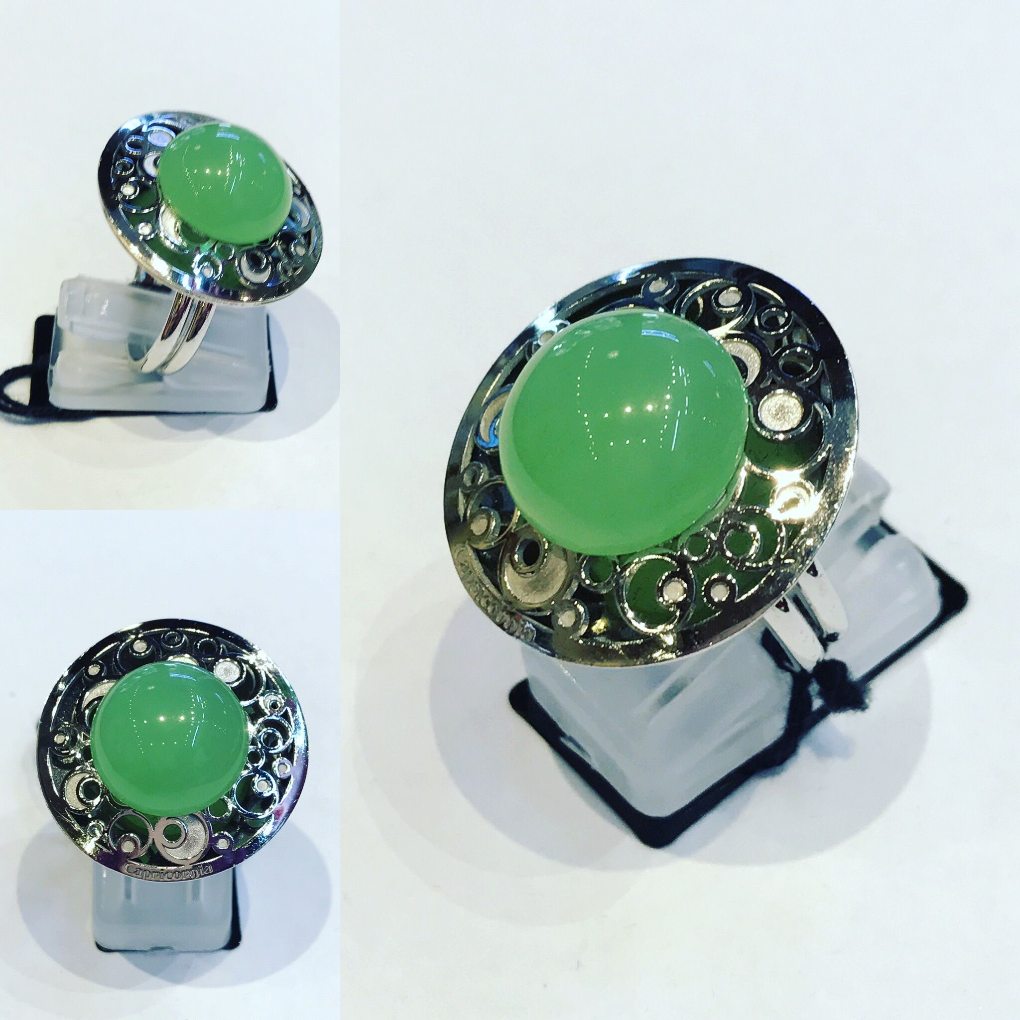 Ring in Silver 925 with Green quartz. Us size 6.75 Eu 14 Price : 129 $ Available at: Www.bangslove.com