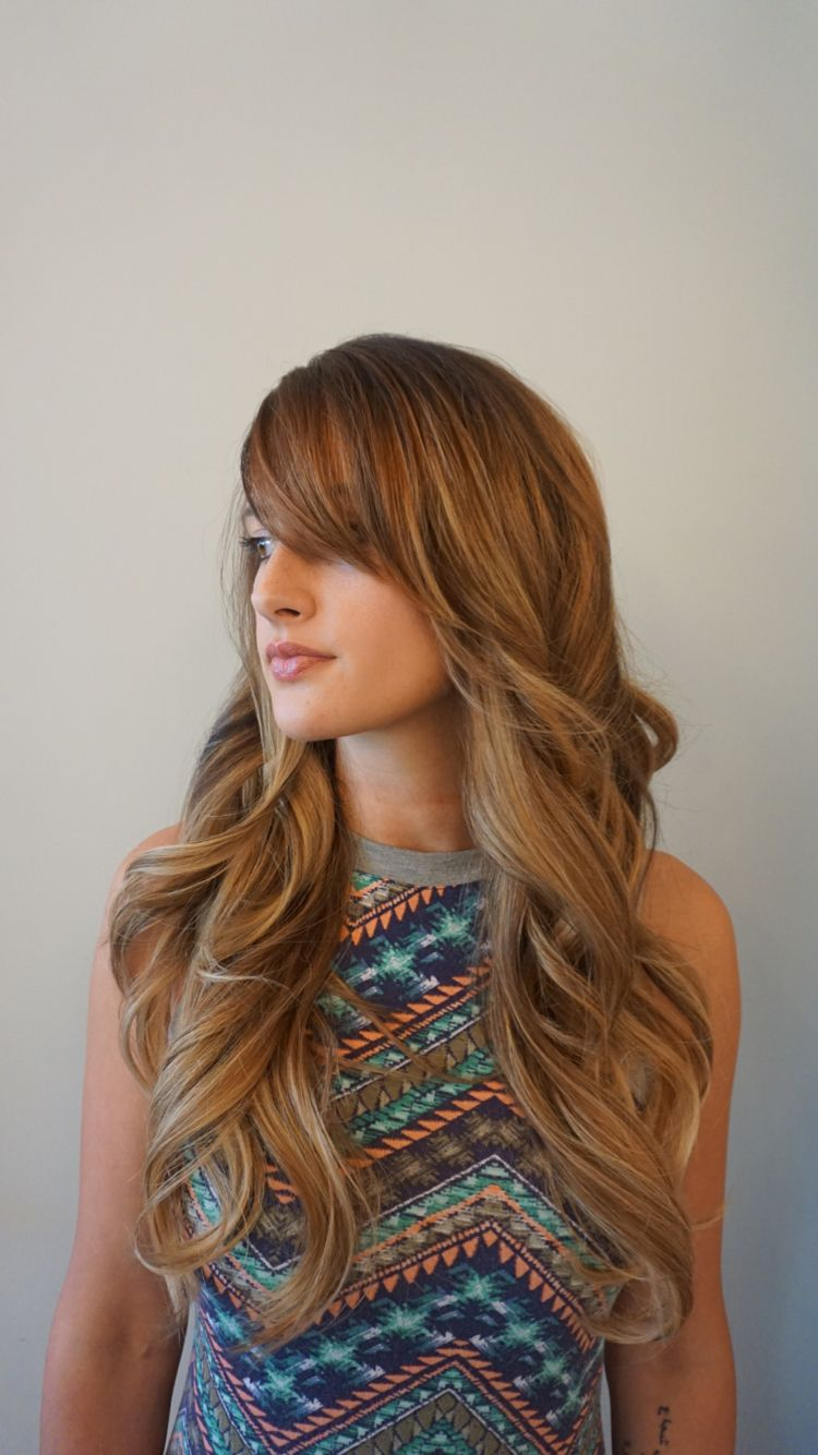 Balayage And Foil Highlights Longhair Brunette Blonde Portland Hair By Holly At Blueprint Modern Hair In Por Modern Hairstyles Hair Styles Long Hair Styles