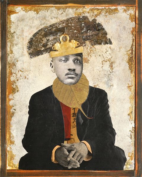 "Kass Copeland, ""Tabor Zeng Bella"", Collage/Assemblage/Painting"
