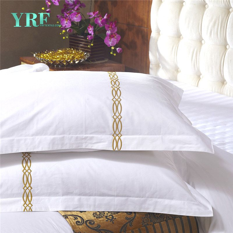 Plain Hotel Bedding Embroidery Designs Bed Sheets Hotel Supplies Almofadas