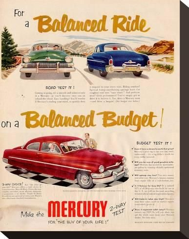 1940-49 Original Print Ad 1946 Mercury More Of Everything You Want Sedan Vintage Art Modern And Elegant In Fashion
