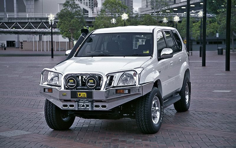 Toyota 120 Series Prado Alloy Bull Bar Tjm Australia 4x4 Accessories 4x4 Accessories Bull Bar Prado