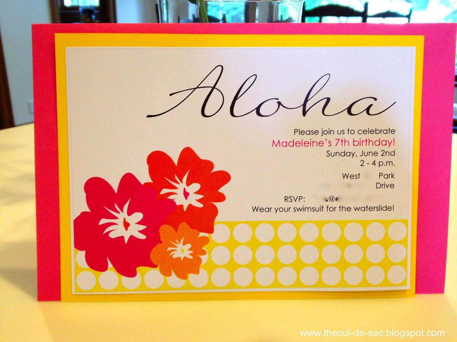 Diy Luau Birthday Invitations | New Invitations | Pinterest | Luau ...