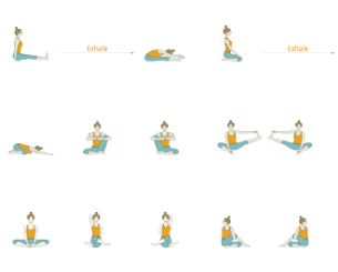 hip opening yoga sequence with peak pose one legged king