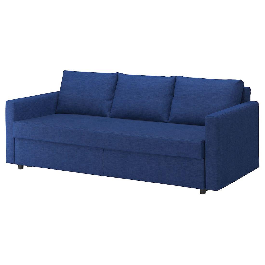 Ikea Friheten Skiftebo Blue Sleeper Sofa In 2020 Cheap Sofa Beds