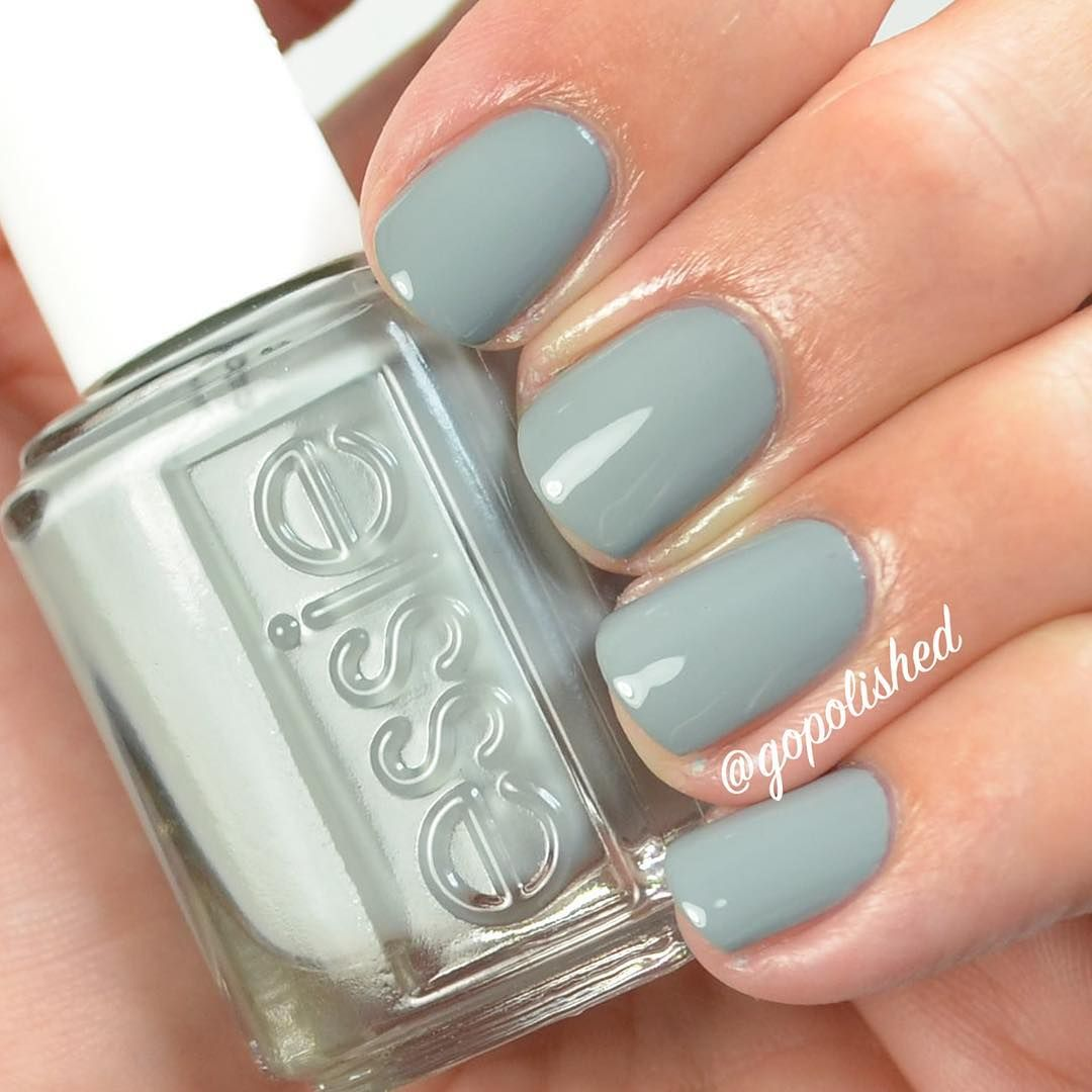 Essie Now And Zen, timeless sage gray nail polish / lacquer from the ...
