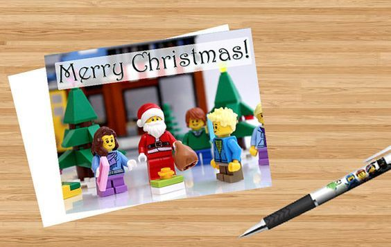 TWO Merry Christmas LEGO Cards - Printable, Funny, legos, instant ...