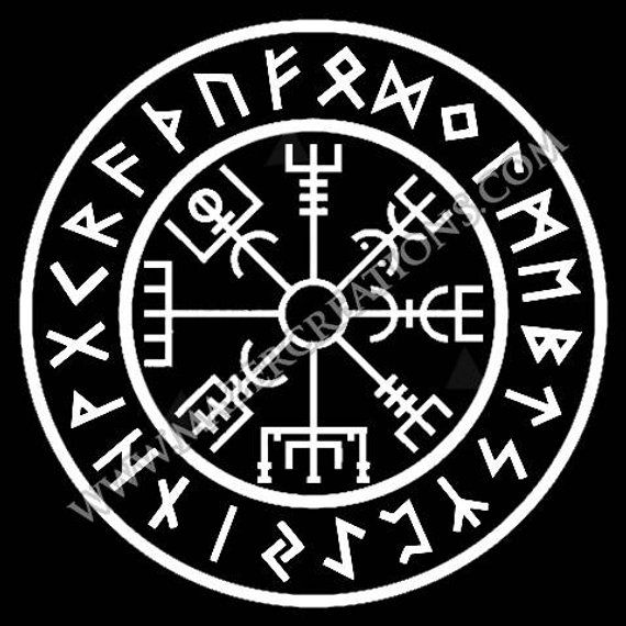 Vegvisir Vinyl Car Decal Asatru Heathen Products Viking Symbols
