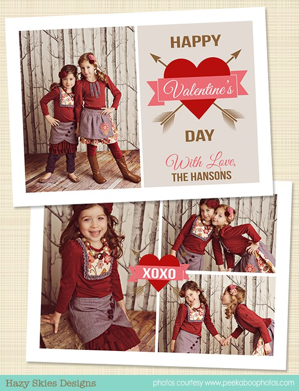 Valentine S Day Card Template Valentines Day Card Templates Happy Valentines Card Valentine Photo Cards