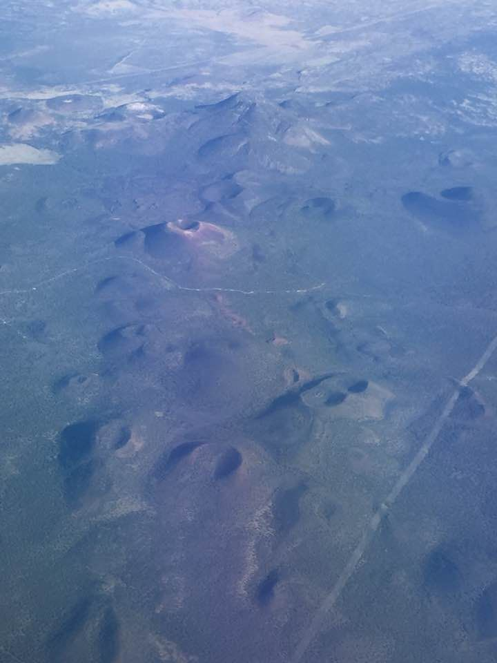 Volcanoes and cinder cones seen during a flight over northern Arizona. Photos by Damon Hynes