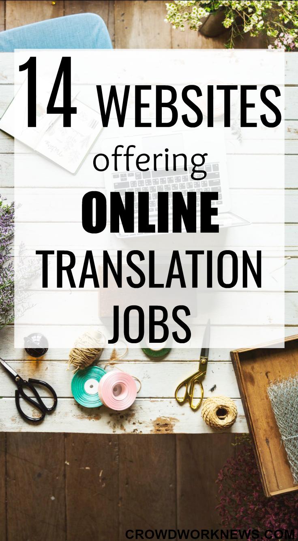 14 Websites Offering Online Translation Jobs