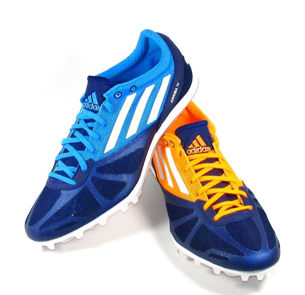 Mens Adidas Arriba 4 M MD LD Track Spikes Size 8 & 8.5 Blue/Orange