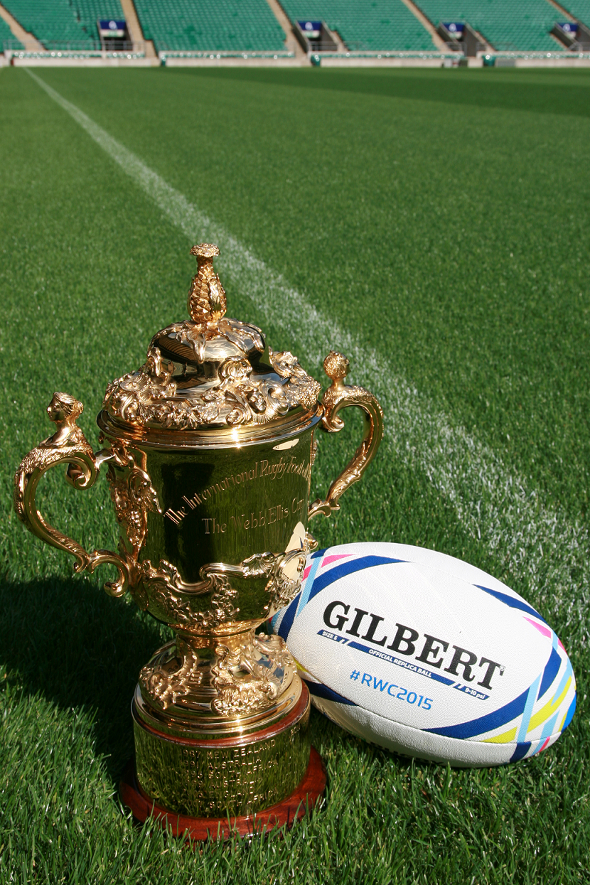 Rwc 2015 The Ball The Trophy Rwc2015 Coupedumonde Rugby With Images Rugby Equipment Rugby World Cup Ball