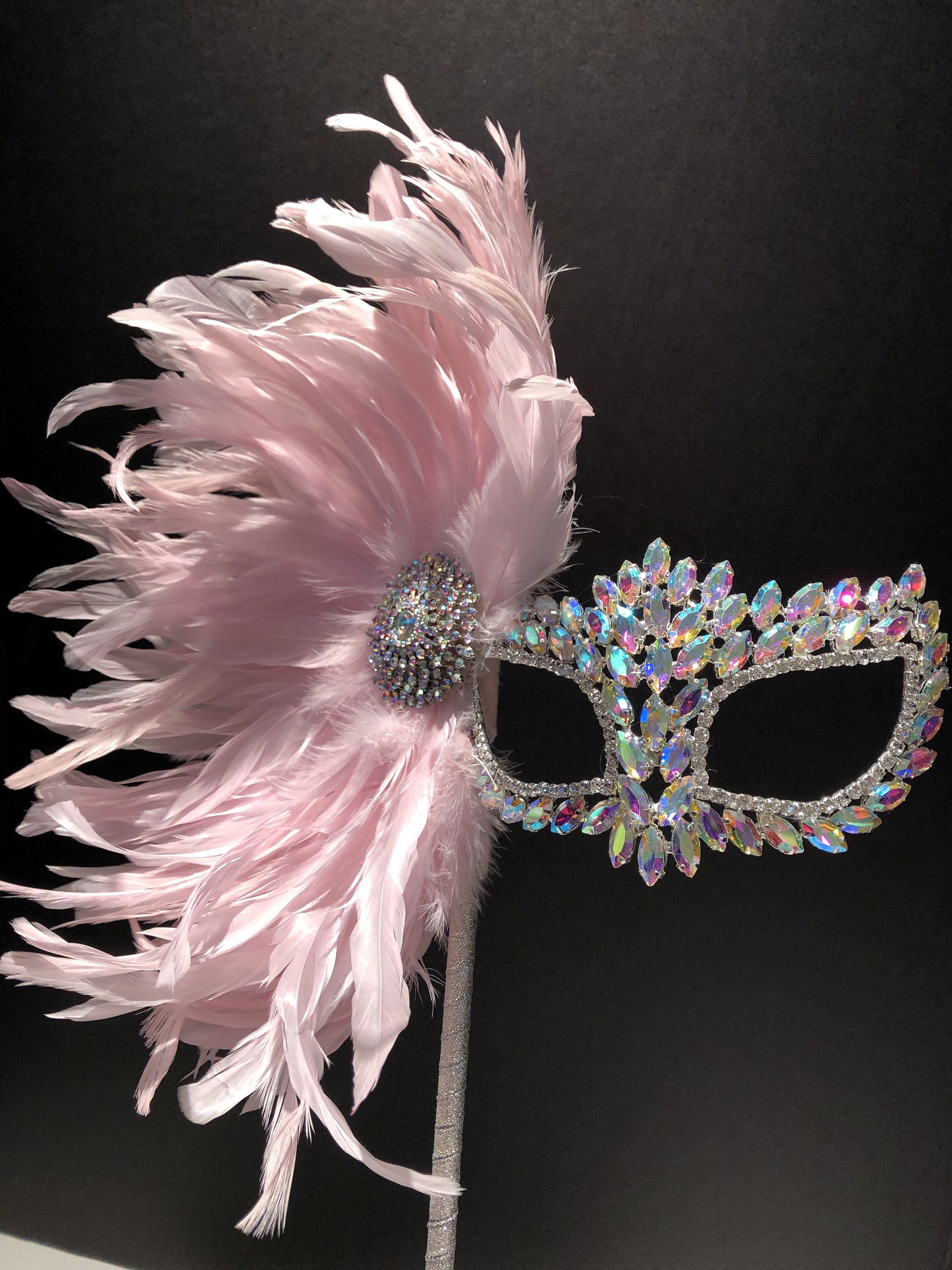 Pink Costume Mask Masquerade Mardi Gras Venetian Wedding Quince Party Favors