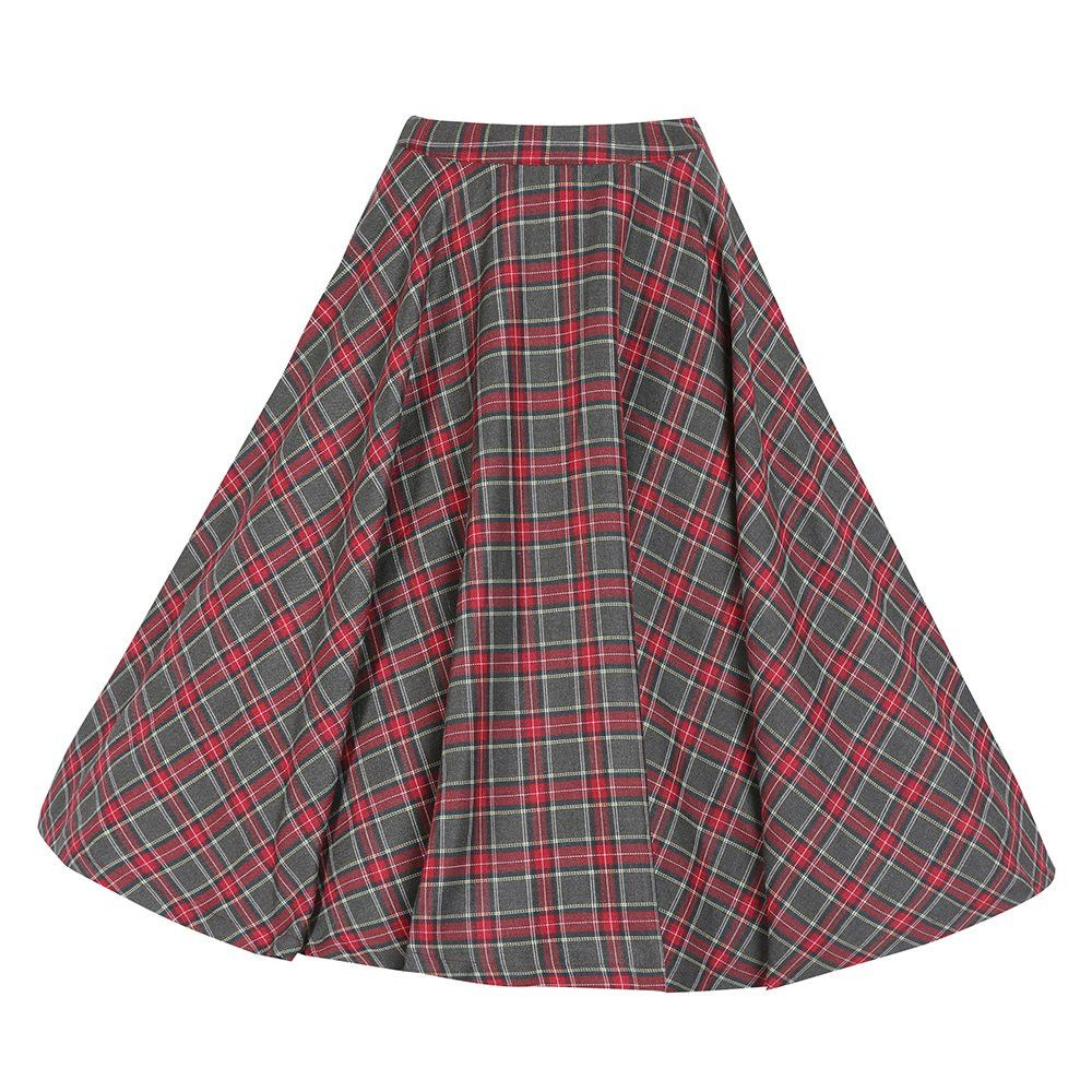 9334de8aa8 Peggy' Grey Tartan Full Circle Skirt in 2019 | Retro Style | Vintage ...