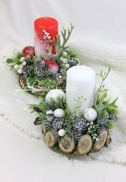 50+ Holiday Red Candlestick Art Design Ideas Latest Fashion Trends for Women sumcoco.com #rustikaleweihnachtentischdeko