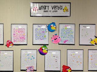 Angry Verb Writing