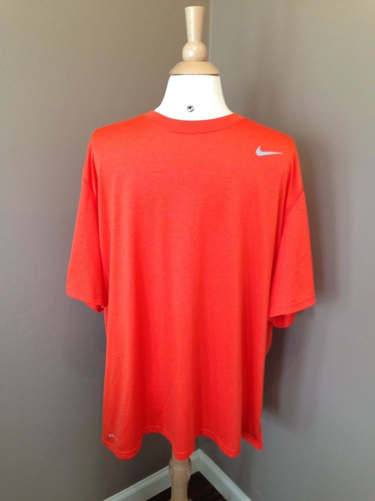 pagamento intestino approvare  Mens*NIKE*DRI-FIT*Neon Orange*T-Shirt*Athletic Apparel*Short Sleeved*2XL*    Orange t shirts, Athletic apparel, Nike men