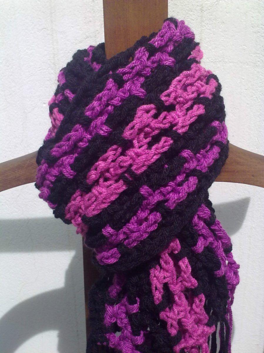 Bufandas Tejidas Al Crochet Multicolor!!! Bufandas Tejidas A Gancho e4d2841e506