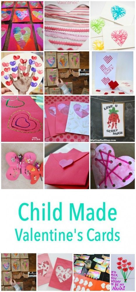 Child Made Valentines Day Card Craft project ideas! These make ...
